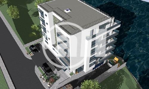 Bloc in constructie pe malul Lacului Siutghiol, vis a vis Carrefour