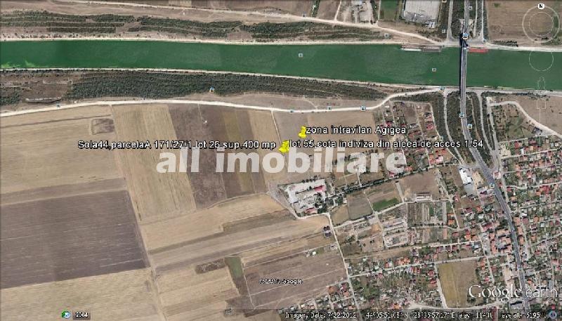 Teren de vanzare in zona Canalul Dunarea din Agigea